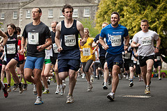 Runners in College Image